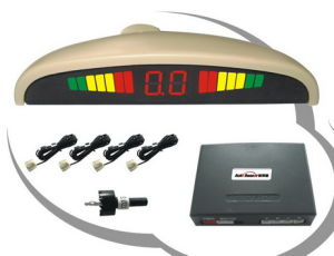 Car Reverse Parking System With Rainbow LED Green Yellow Red 3 Color Display (MC068)