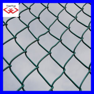 PVC Coated& Galvanized Chainlink Fence Idiamond Wire Mesh) (TYE-30) pictures & photos