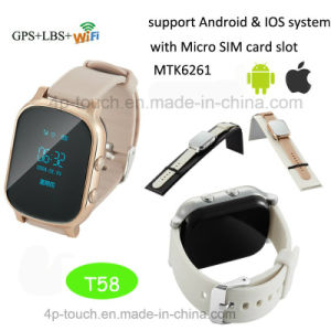 Personal Adult GPS Tracker Watch with Two Way Communication T58 pictures & photos