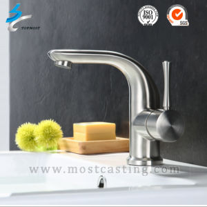 Mirror Polished Stainless Steel Basin Faucet in Bathroom Accessories pictures & photos