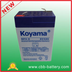 6V 4ah Lead Acid AGM Battery for Flashlight, Toy pictures & photos