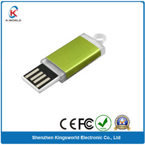 Green 2GB Plastic OEM Sliding USB Flash Memory