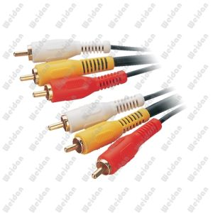 100ft 3RCA to 3RCA Composite Stereo AV Cable pictures & photos
