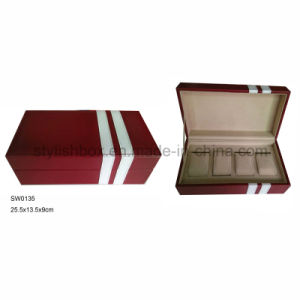 Rectangle Watch Box with 4 Slots for Travel (SW0135)