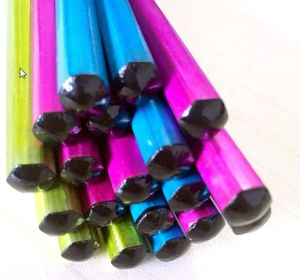 Promotional Metalic Color Wood Hb Pencil Without Eraser in Bulk