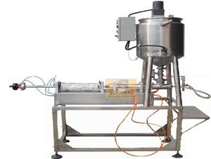 Semi-Auto Hot Liquid Filling Machine with Heating & Mixing Hopper (GHSPF-H) pictures & photos