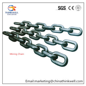 Forged High Alloy Steel Black Painting Mining Chain pictures & photos