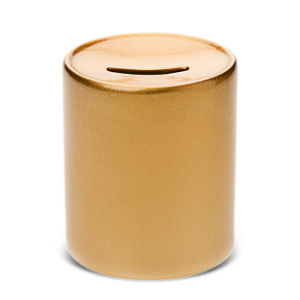 Cheap China Wholesale Ceramic Gold White Color Blank Sublimation Money Saving Box pictures & photos