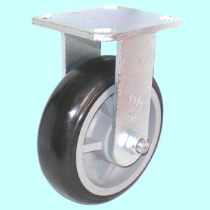 Swivel PU Caster with Dual Brake (Black) pictures & photos