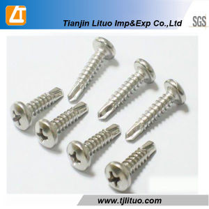 DIN7504 White Zinc Plated Pan Head Self Drilling Screw pictures & photos