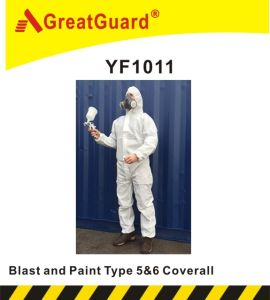 Greatguard Spray and Blasting Type 5&6 Microporous Coverall (CVA1011) pictures & photos