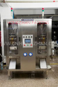 Double Channel Liqud Packaging Machine with Big Size and Volume Bag Making by Rolling Film pictures & photos