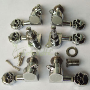 Skull Guitar Machine Heads 3L+3r Type (6-in-line type available) in Stock for Electric/Acoustic (Folk) Guitars
