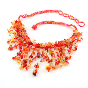 Semi Precious Stone Crystal Beaded Fashion Jewelry Necklace <Esb01386> pictures & photos
