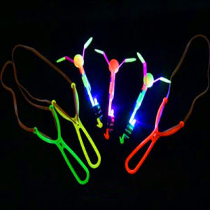 Rubber Band Power Rotating LED Flashing Copters pictures & photos