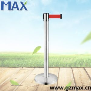 Queue Pole Crowd Control Sliver Retractable Belt Bank Stanchion for Sale pictures & photos