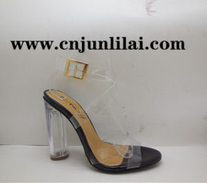 Transparent Sandals with Clear Heel