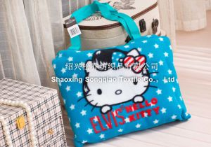 Printed Baby Polyester Fleece Blanket with Hello Kitty Zipper Bag pictures & photos
