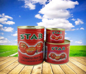 Organic No Additive Certification Canned Tomato Paste (STAR brand size 400g) pictures & photos