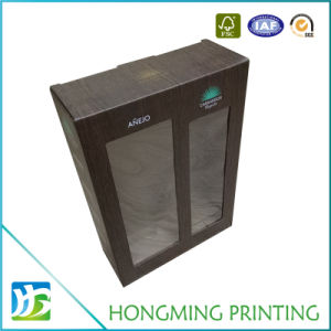 High Quality PVC Window Corrugated Wine Carton Box pictures & photos