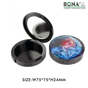 12g New Empty Black Compact Powder Container Case pictures & photos