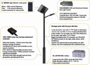 60W LED Solar Street Light with Lithium Battery pictures & photos