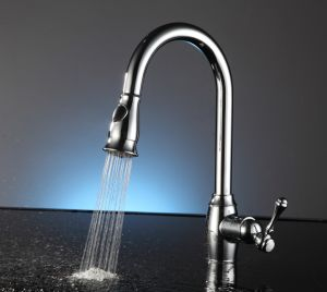 Single Handle One Hole Pull out Down Kitchen Sink Faucet pictures & photos