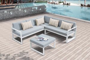 Modern Furniture Joya Aluminum Lounge Set Patio Garden Outdoor Sofa (J678) pictures & photos