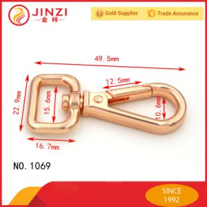 High Quality Rose Gold Finishing for Alloy Snap Hook pictures & photos