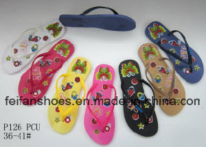 Cheap Women Slippers Colorful Sandals in Bulk for Africa Market (FFLT1017-01) pictures & photos