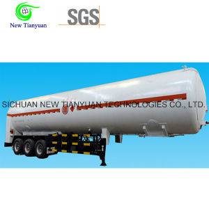 Lco2/Lar Cryogenic Liquid Tank Container Semi-Trailer pictures & photos