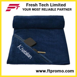 Microfiber Sports Zipper Pocket Towel with Your Logo pictures & photos