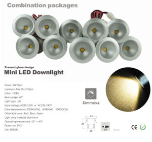 1W Mini LED Desk Light 20mm 110V 220V LED Lamp for Furniture pictures & photos