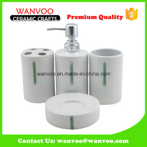 Cylindrical China Ceramic Bathroom Accessories Manufacturres with Dimonds Decoration pictures & photos