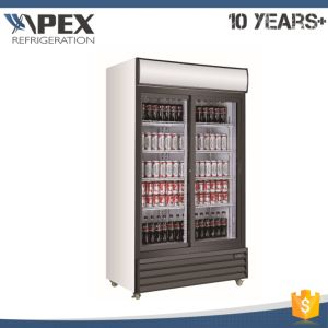 Commercial Double Glass Doors Monster Energy Drink Cooler pictures & photos