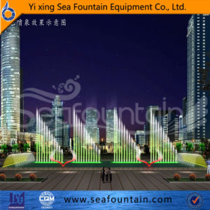 Wooden Package Combination Type Music Fountain with Water Screen Movie pictures & photos