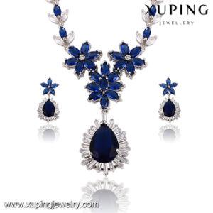 Set- 43 Fashion Luxury Big CZ Stone Flower Design Wedding Jewelry Set for Girls pictures & photos