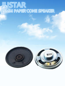45mm 8ohm 0.25-2W Computer Speaker Paper Cone with RoHS pictures & photos