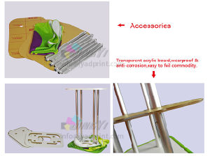 Easy Acrylic shelf Tubbe display Stretch Tension Fabric Counter Podium pictures & photos