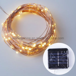 50 Warm White Solar Christmas Lights String for Wedding Halloween Patio Party Decorations Light pictures & photos