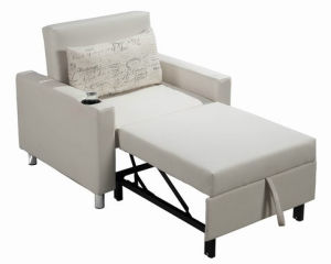 Three-Folded Single Sofa Bed for Hotel Room pictures & photos