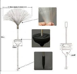 Solar Power Fiber Optic Landscape Light RGB Color Changing in-Ground for Outdoor Garden Lawn Decoration pictures & photos
