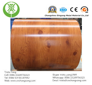 Wooden Grain Prepainted Galvanized/Galvalume Steel Coil pictures & photos