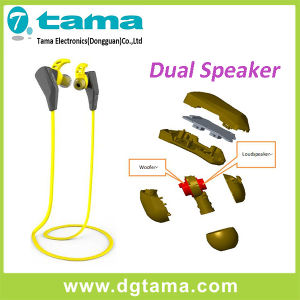 Dual Speakers V4.1+EDR Wireless Sport Bluetooth in-Ear Earphone pictures & photos