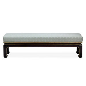 New Arrived Hotel Furniture Chunky Wooden Bench with Fabric Cushion Bed Side Stool pictures & photos