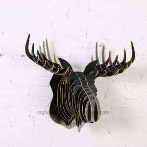 Creative Wooden Crafts Deer Head Metope Adornment pictures & photos