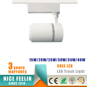 2/3/4-Wire 20W/30W/40W COB LED Track Spotlight for Commercial Lighting pictures & photos