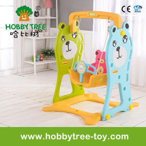 2017 Bear Style Hot Selling Cheap Baby Swing for Family (HBS17022E) pictures & photos