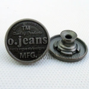 Matt Gun Black Metal Jeans Button for Garment Accessory pictures & photos