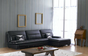 Fashion L Shape Sectional Leather Sofa pictures & photos